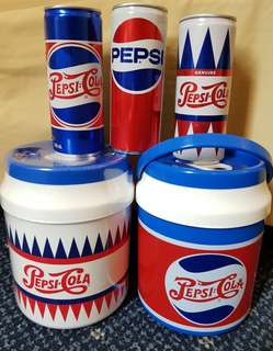 Pepsi Generation Cans and Cooler Set. Limited Edtion.coke