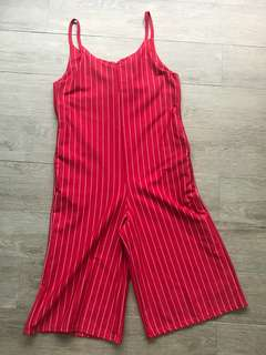 Red w/ white stripes Jumpsuit