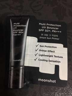 Instock sample size multi protection uv bouncer moonshot korea