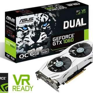 Asus GTX 1060 Dual OC 6GB Graphics Card - SKU: DUAL-GTX1060-O6G