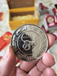 1992 Monkey $10 coin (4 units)