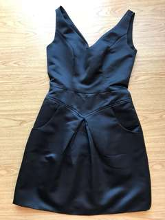Avel Bacudio Black Cocktail Dress