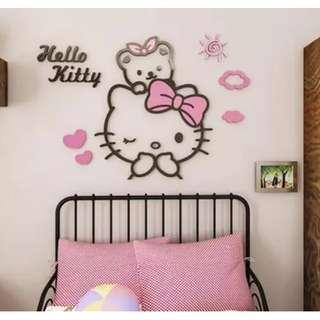 🚚 BMT533 - Hello Kitty with Teddy Acrylic Wall Deco