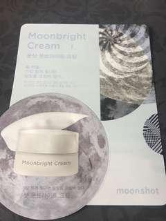 Sealed Instock sample moonshot korea moonbright cream