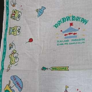 1992 Made in Japan 絕版Kerokerokeroppi 大方巾childhood