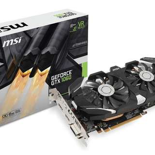 MSI GeForce GTX 1060 OC V2 6GB Graphics Card - SKU: GTX 1060 6GT OCV2