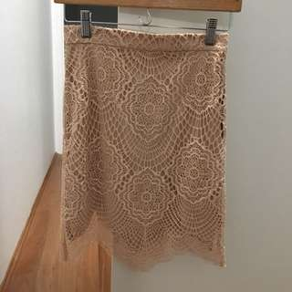 Bardot Lace Skirt
