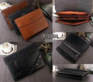 Dompet pria FOSSIL Kode 1105-2#7 Bahan Leather  Kualitas Semi Ori