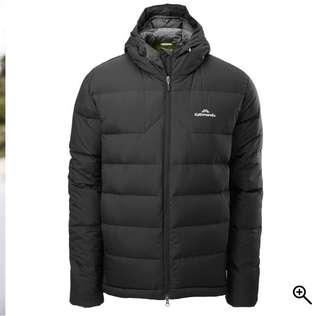Men's Epiq Hooded Down Jacket (Black - Size M)