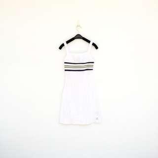 🚚 二手 白色 棉質 彈性 洋裝 明太子 527