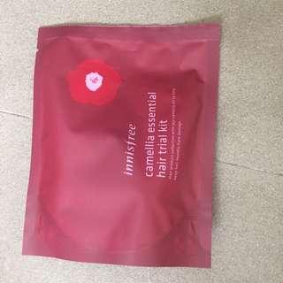 Innisfree camellia essential hair trial kit