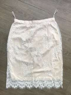 Cream Floral Skirt