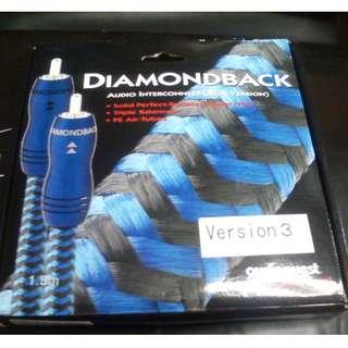 AudioQuest diamondback 1.5m Audiophile audio analogue RCA