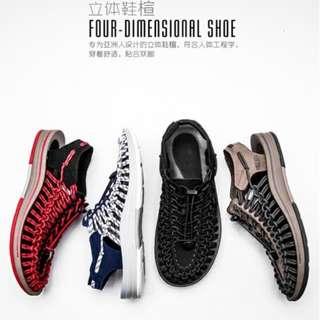 新款羅馬編織包頭鏤空個性潮鞋HK$299