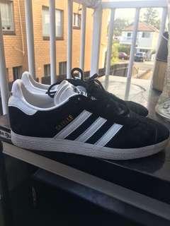 Adidas Gazelle Black and White Orignals
