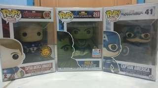 FUNKO POP Captain America and Hulk