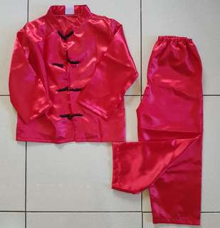 Red Kung Fu or Chinese Costume