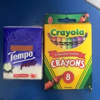 全新Crayola8色蠟筆