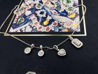18KW diamond pendant