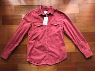 JUAL PULL AND BEAR SHIRT KEMEJA