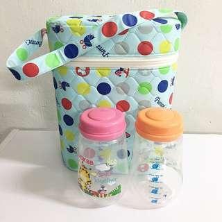 Pureen Premium Double Wide Neck Bottle Warmer (FREE Preloved OKBB Feeding/Storage Bottle 8oz - 2pcs)