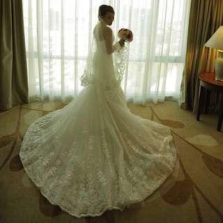 ERWIN TAN MERMAID CUT WEDDING DRESS