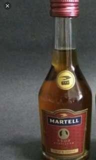 90年代,馬爹利vsop 30ml酒辦一支。