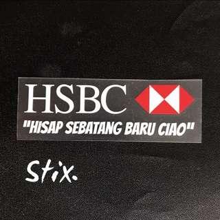 Hisap Sebatang Baru Ciao Vinyl Cut Sticker