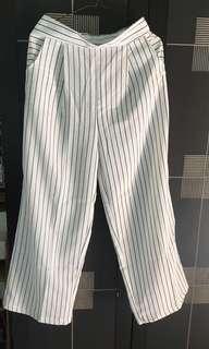 Stripe basic pants