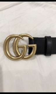 "Gucci ""GG"" belt in gold and black"