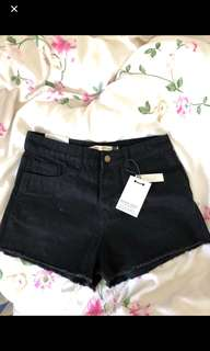 ASOS black denim shorts