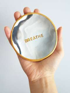 BREATHE   Polymer Clay Jewelry Dish