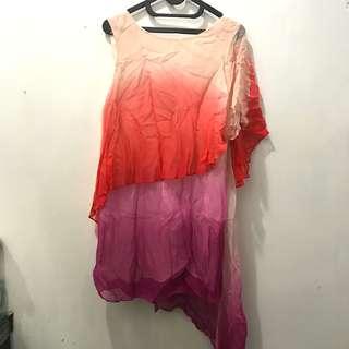 Topshop rainbow dress