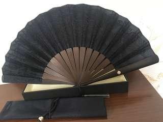 Shiseido wooden folding fan (Limited Edition)