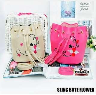 Tas wanita sling bote flower