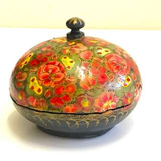 西班牙人手上色手工塗製首飾盒 Spanish Handpainted Handmade Jewellery Box