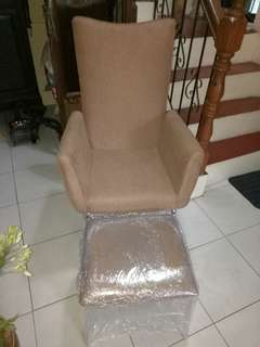 Accent Chair w/ Footstool