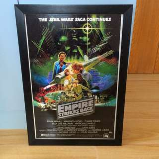 STAR WARS EMPIRE STRIKES BACK FRAMED MOVIE POSTER