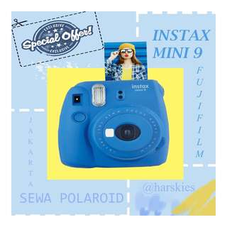 SEWA POLAROID INSTAX MINI 9