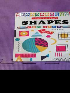Activity Book for kids Shapes Mazes Sticker