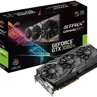 ASUS GeForce GTX 1080 Ti ROG Strix Gaming 11GB Graphics Card  - SKU: ROG-STRIX-GTX1080TI-11G-GAMING