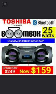 TOSHIBA Portable Bluetooth Stereo CD/USB Player. Usual Price: $229  Offer: $$159 (Brand new in box and sealed) whatsapp 85992490 to collect today