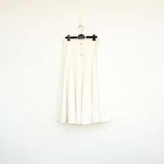 🚚 二手 白色 高腰 長裙 (另有同款上衣) 明太子 527
