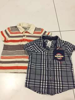 [7 items] 12M Babygap, Guess baby polo shirt, pants, romper