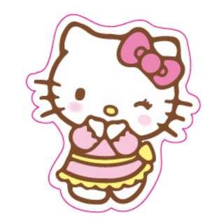 Shy Blushing Hello Kitty Sticker Gloss Waterproof