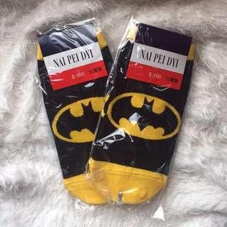 蝙蝠俠隱形襪兩雙(全部)