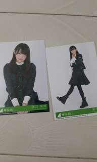 Trade Keyakizaka46's Watanabe Rika and Harada Aoi photocard