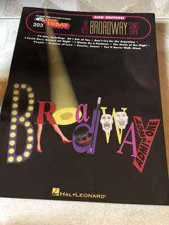 Broadway songs music sheet
