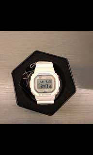 Casio G Shock 5600AB White Bluetooth