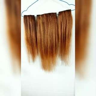 Hair clip human hair